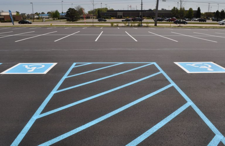 parking lot paving in kenosha, parking lot striping in kenosha, cicchini asphalt