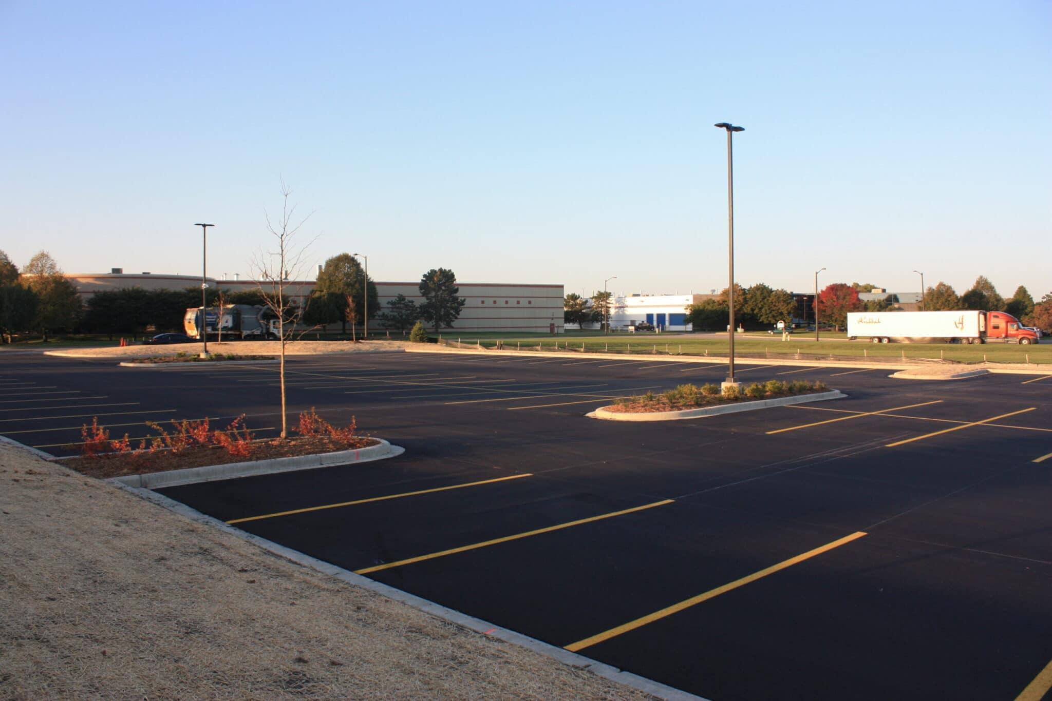 Parking Lot Restoration in Kenosha, cicchini asphalt, parking lot services